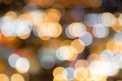 Fond circulaire abstrait de bokeh de lumière de nuit photographie stock libre de droits