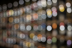 Fond circulaire coloré abstrait de bokeh de ligne Christmaslight, fond abstrait Photos stock