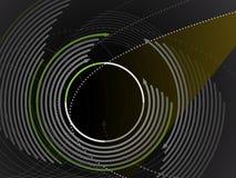 Fond circulaire graphique moderne de conception Image libre de droits