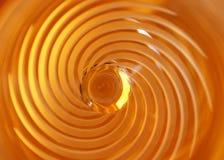 Fond circulaire jaune de remous Image stock
