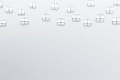 Fond clair abstrait minimaliste avec les particules en verre transparentes Image libre de droits