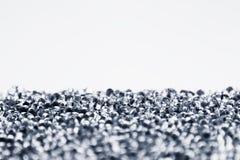 Fond clair abstrait minimaliste avec les particules en verre transparentes Image stock