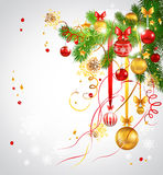 Fond clair avec l'arbre de Noël Image libre de droits