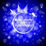 Fond clair bleu de vecteur de Noël Carte ou invitation illustration stock