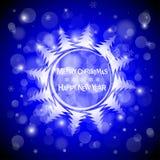 Fond clair bleu de vecteur de Noël Carte ou invitation illustration de vecteur
