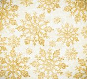 Fond clair d'or des flocons de neige illustration libre de droits