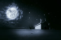 Fond clair de Halloween de nuit Image stock