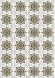 Fondclair de losange beige avec les fleursbrillantes Photo stock