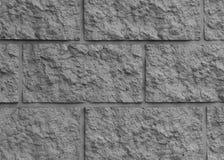 Fond clair de texture de mur de briques grande brique noire et blanche Photo stock