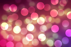 Fond clair rougeoyant mauve rose de brosse et de papier peint de Bokeh Photographie stock libre de droits
