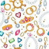 Fond clair sans couture d'articles de bijoux Photographie stock