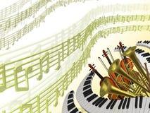 Fond classique de musique Photos stock