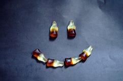 Fond, coca-cola, gelée, sourire Photographie stock