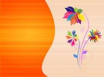 Fond coloré abstrait avec des fleurs Images libres de droits