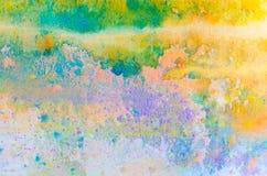 Fond coloré abstrait avec la poudre de peinture de holi Photos stock