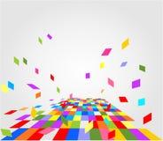 Fond coloré abstrait avec le modèle geomentic Photographie stock