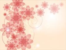 Fond coloré abstrait avec les fleurs roses Photographie stock libre de droits