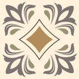 Fond coloré abstrait décoratif, modèle floral géométrique carré avec le cadre fleuri de dentelle, ornement ethnique tribal Photo stock