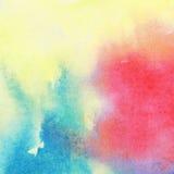 Fond coloré abstrait d'aquarelle Image libre de droits