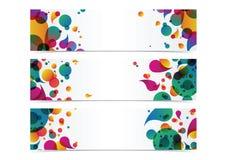 Fond coloré abstrait d'en-tête de bannière Image libre de droits