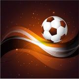 Fond coloré abstrait de bille de football Image libre de droits