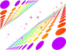 Fond coloré abstrait de cercle illustration libre de droits