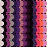 Fond coloré abstrait de cercles sur le noir Photographie stock