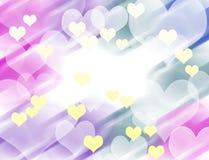 Fond coloré abstrait de coeur illustration stock