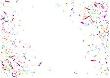 Fond coloré abstrait de confettis D'isolement sur le fond blanc Photos stock