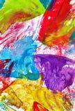 Fond coloré abstrait de crayons de cire Texture mignonne pour le desig Image stock