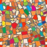 Fond coloré abstrait de mosaïque Image stock