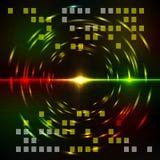 Fond coloré abstrait de techno. Image libre de droits