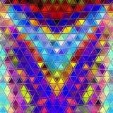 Fond coloré abstrait de triangles Photo stock
