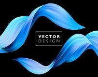 Fond coloré abstrait de vecteur, vague liquide d'écoulement de couleur pour la brochure de conception, site Web, insecte illustration stock