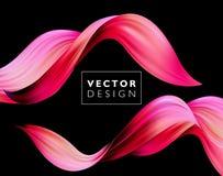 Fond coloré abstrait de vecteur, vague liquide d'écoulement de couleur pour la brochure de conception, site Web, insecte illustration libre de droits