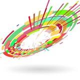 Fond coloré abstrait du radial 3 D composé de formes géométriques illustration stock