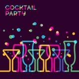 Fond coloré abstrait en verre de cocktail Concept pour des hommes de barre Images stock
