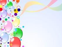 Fond coloré avec des ballons Photos libres de droits
