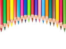 Fond coloré avec des crayons Photo libre de droits