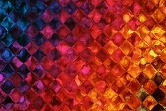 Fond coloré avec l'effet de modèle de bulles Photographie stock