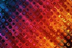 Fond coloré avec l'effet de modèle de bulles Image libre de droits