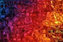 Fond coloré avec l'effet en verre inégal Photo libre de droits
