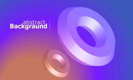 Fond coloré avec la forme géométrique simple Gradient olographe de couleur Fond abstrait dernier cri Illustration de vecteur illustration stock