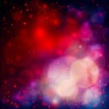 Fond coloré avec les lumières rouges de bokeh illustration stock