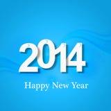 Fond coloré bleu créatif de la bonne année 2014 Image libre de droits
