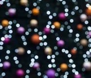 Fond coloré brouillé de lumières de Noël Photo libre de droits