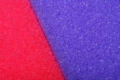 Fond coloré d'éponge de mousse de cellulose de texture Image libre de droits