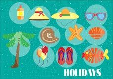 Fond coloré d'été, carte Photo stock