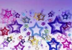 Fond coloré d'étoile Photos libres de droits
