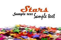 Fond coloré d'étoiles pour votre texte Image libre de droits